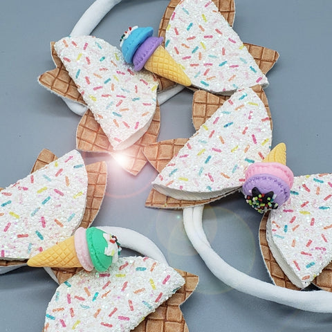 Ice Cream Cone Headband