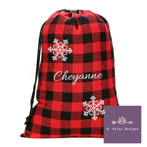 Buffalo Plaid (Multiple Options) LARGE Gift Sack