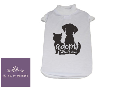 Adopt Don't Shop! Cat/Dog Tee