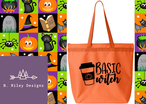 Basic Witch Large Halloween Tote