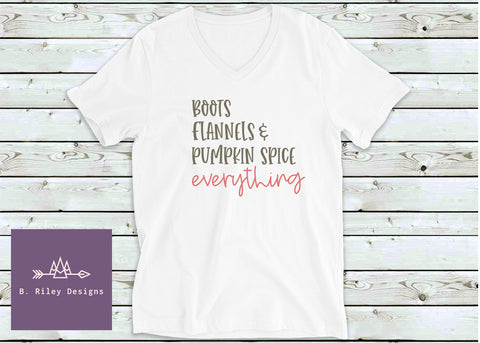 Scripted Fall - Women's V-Neck Tee