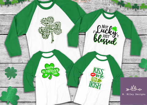 Happy St. Patrick's Day - Toddler/Kid's Raglan