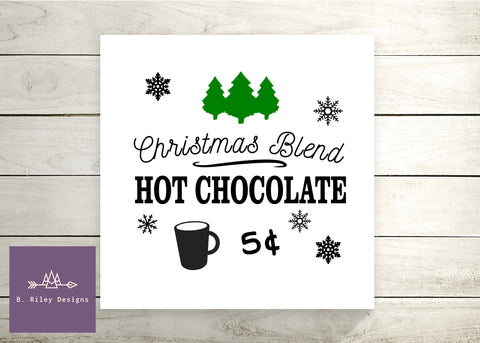 Hot Chocolate Canvas Sign