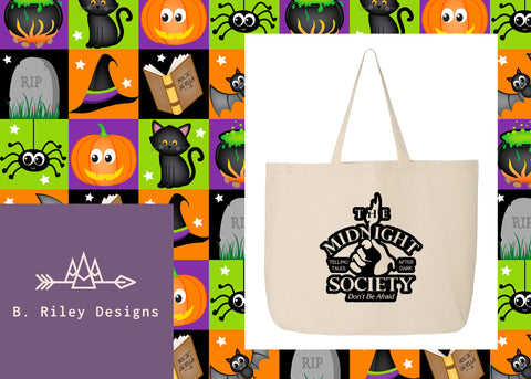Midnight Society Jumbo Tote Bag