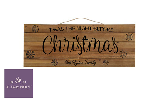 The Night Before Christmas Hanging Sign