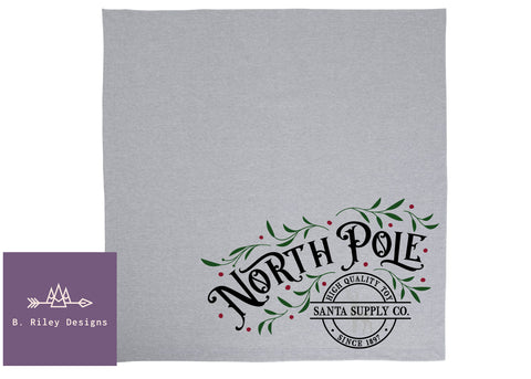 North Pole Sweatshirt Blanket