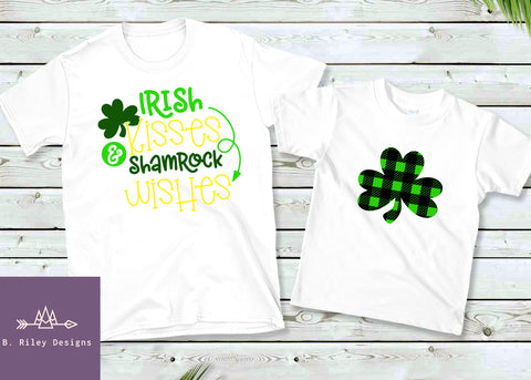 Plaid Shamrocks - Kid's Tee