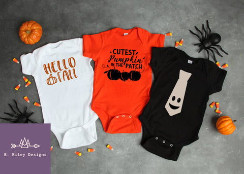 October Onesie Collection - Buy Individually, or as a set!