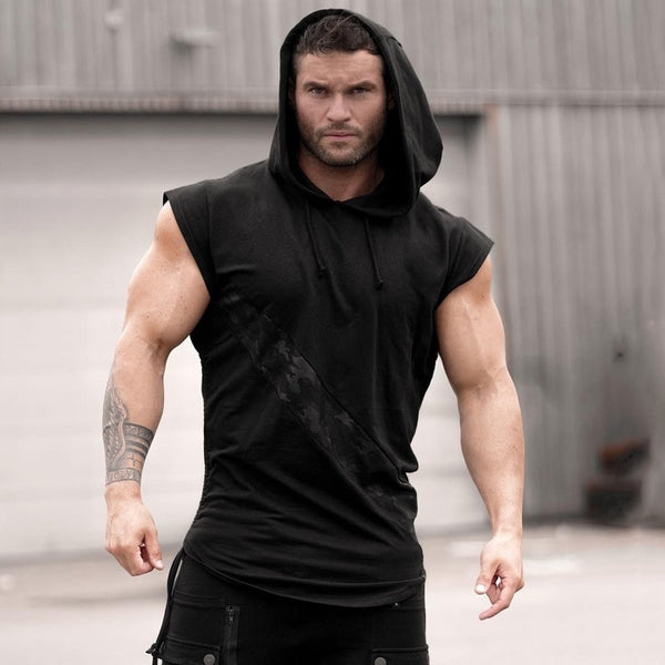 Workout Crossfit Men's Hoodie Tank Top
