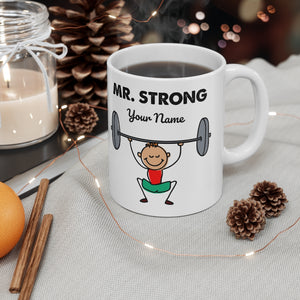 Mr. Strong Personalized Coffee Mug