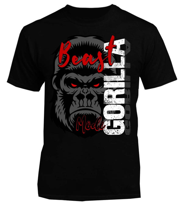 Gorilla Beast Mode Gym Workout Tee