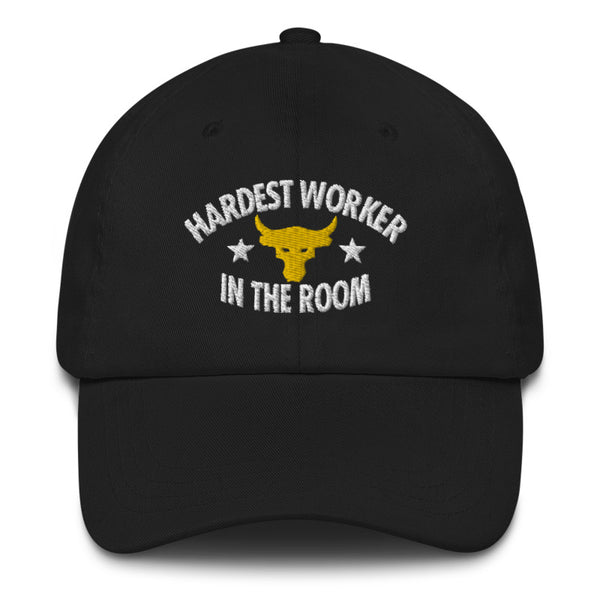 Hardest Worker In The Room Unisex Twill Embroidered Hat