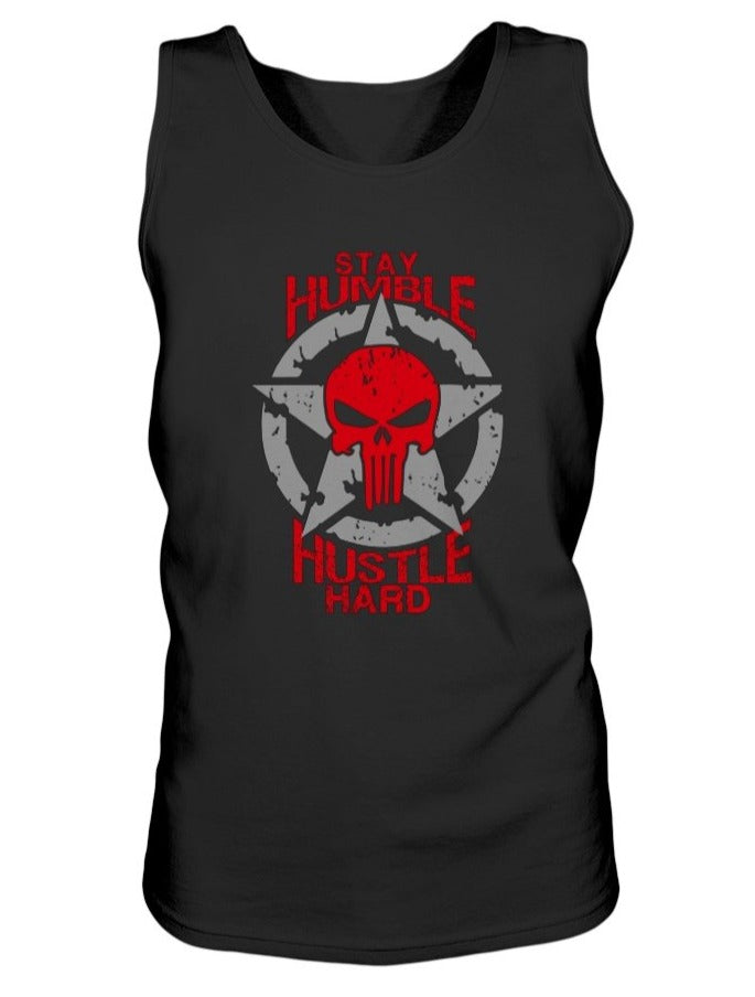 Stay Humble Hustle Hard Unisex Jersey Tank - Red
