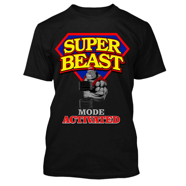 Super Beast Mode Activated Gym Workout T-Shirt