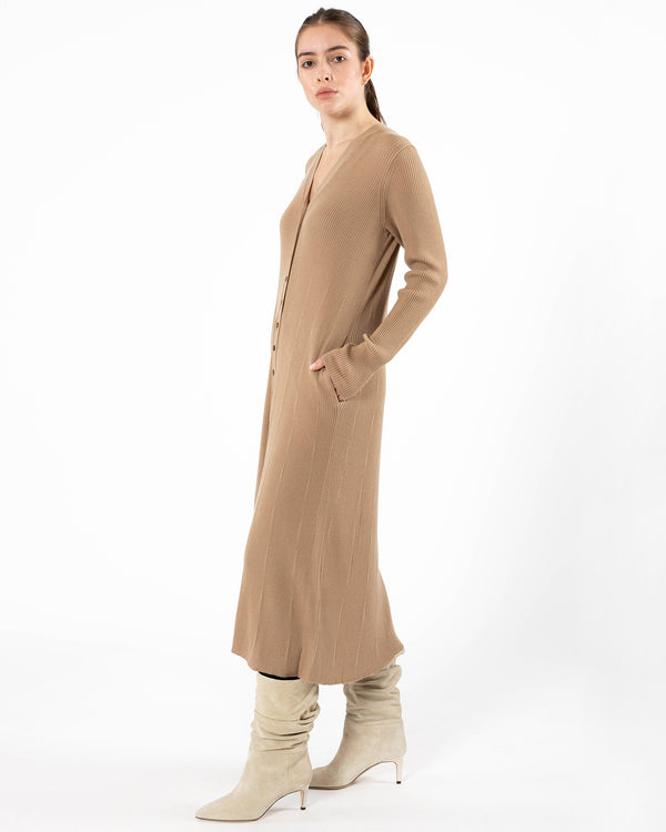 MOUSSY - Wool Rib Long Cardigan | Luxury Designer Fashion | tntfashion.ca