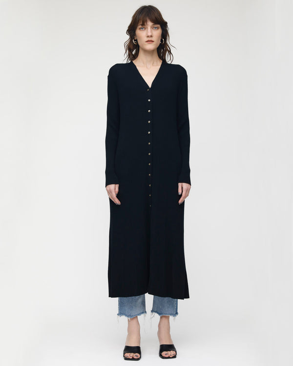 MOUSSY Wool Rib Long Cardigan | newtntfashion.