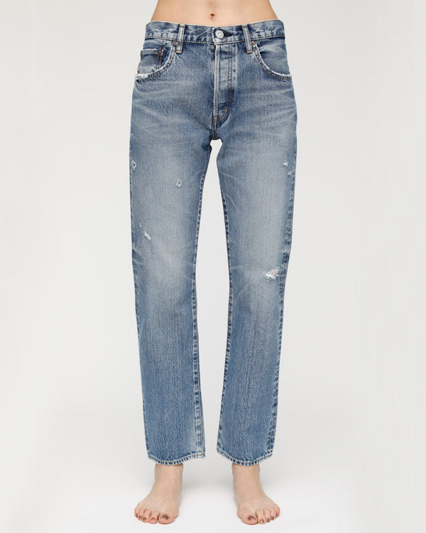 MOUSSY Blue Friant Straight Jeans | newtntfashion.