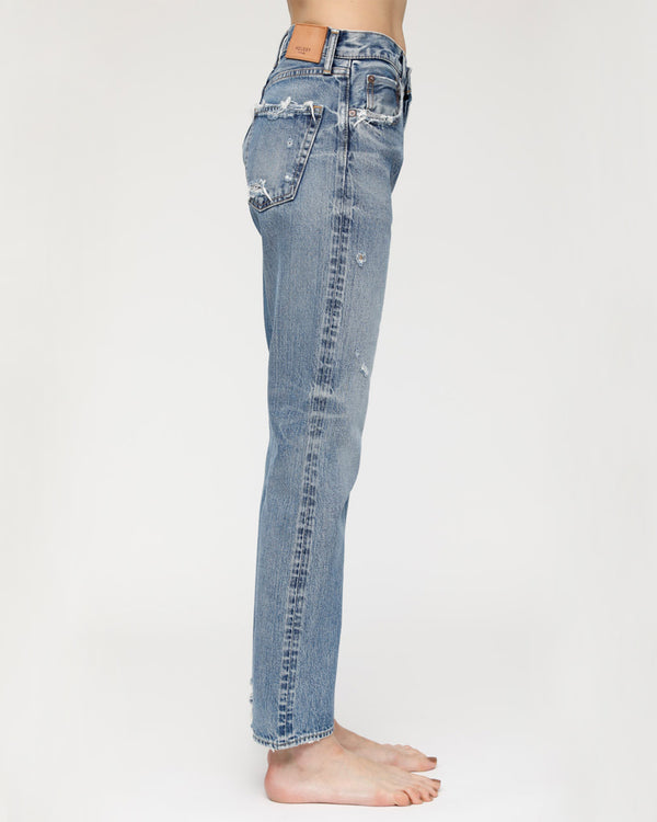 MOUSSY - Blue Friant Straight Jeans | Luxury Designer Fashion | tntfashion.ca