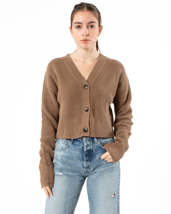 MOUSSY - Rib Stitch Cardigan | Luxury Designer Fashion | tntfashion.ca