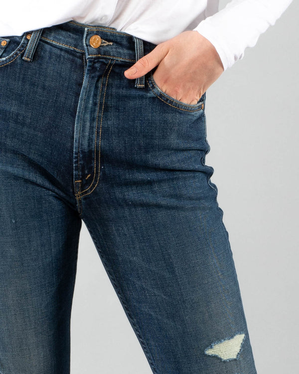 MOTHER - High Waisted Rider Ankle Jeans | Luxury Designer Fashion | tntfashion.ca
