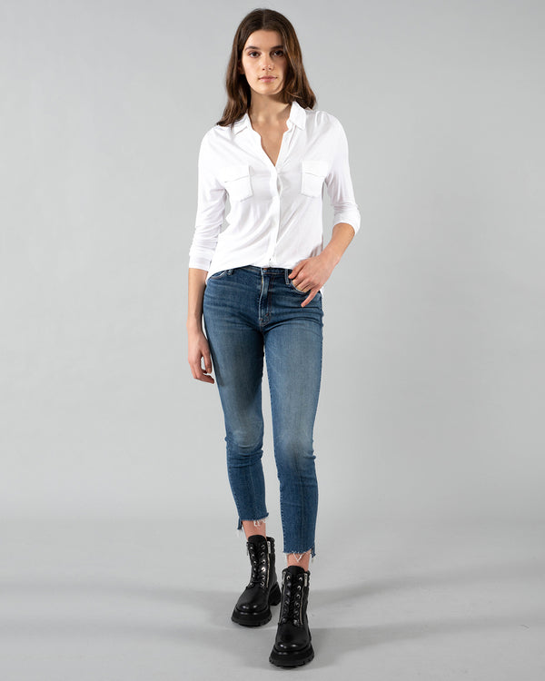 MOTHER - Stunner Zip Ankle Jeans | Luxury Designer Fashion | tntfashion.ca