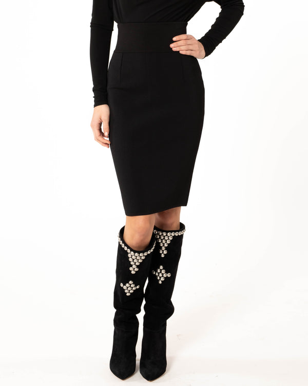 ALEXANDRE VAUTHIER - Viscose Knit Pencil Skirt | Luxury Designer Fashion | tntfashion.ca