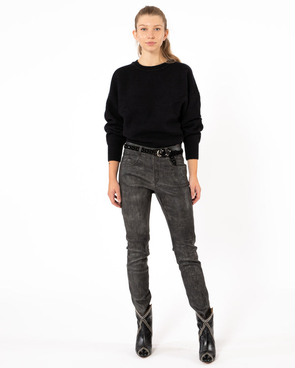 ISABEL MARANT ETOILE Taro Leather Pants | newtntfashion.