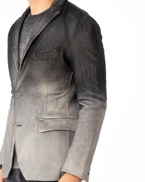AVANT TOI - Felted Reversible Jacket with Degraded Effect | Luxury Designer Fashion | tntfashion.ca