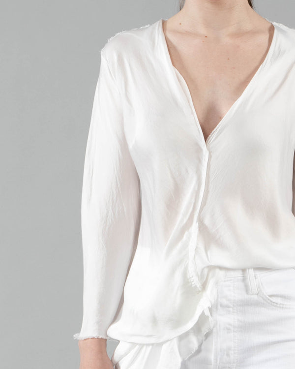 JAGA - Deep V-Neck Top | Luxury Designer Fashion | tntfashion.ca