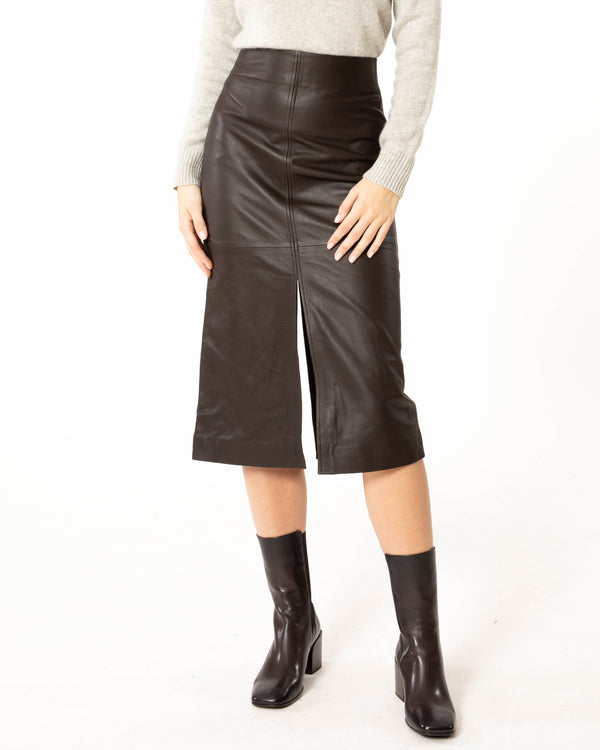 CO - Leather Skirt | Luxury Designer Fashion | tntfashion.ca