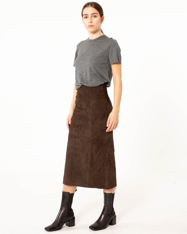 CO - Suede Skirt | Luxury Designer Fashion | tntfashion.ca