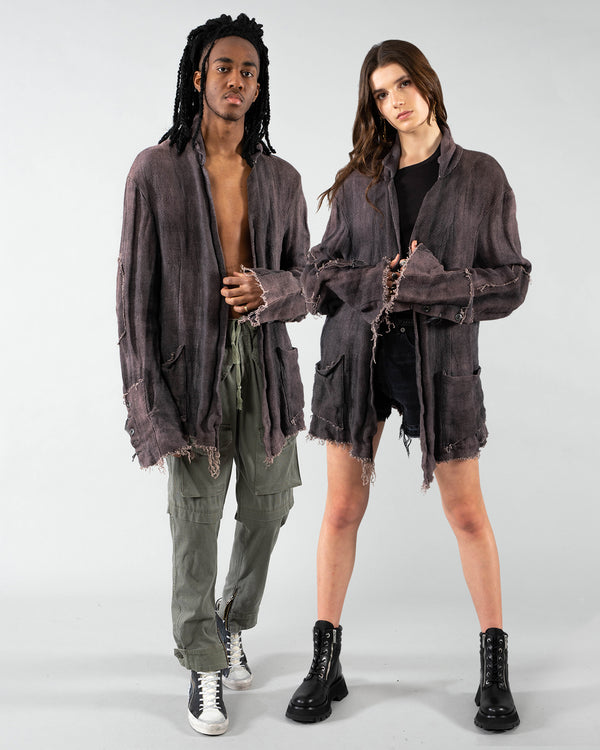 GREG LAUREN - Dickens Knit Cardigan | Luxury Designer Fashion | tntfashion.ca