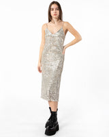 Long Sequin Slip Dress