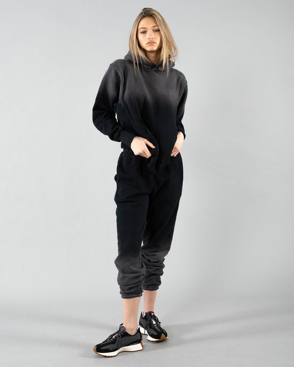 LES TIEN - Crop Ombre Hoodie | Luxury Designer Fashion | tntfashion.ca