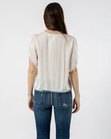 VELVET - Satin Viscose Short Sleeve Top | Luxury Designer Fashion | tntfashion.ca