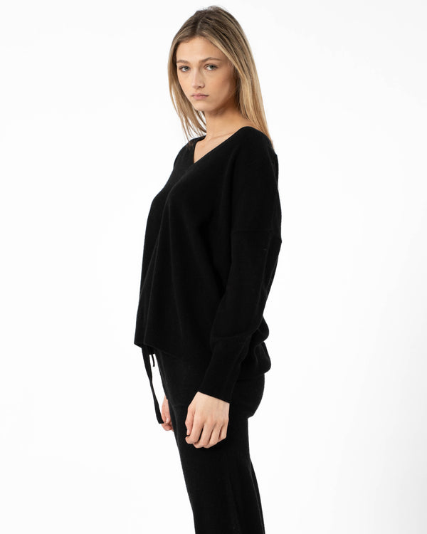 Malibu Oversized V-Neck Sweater