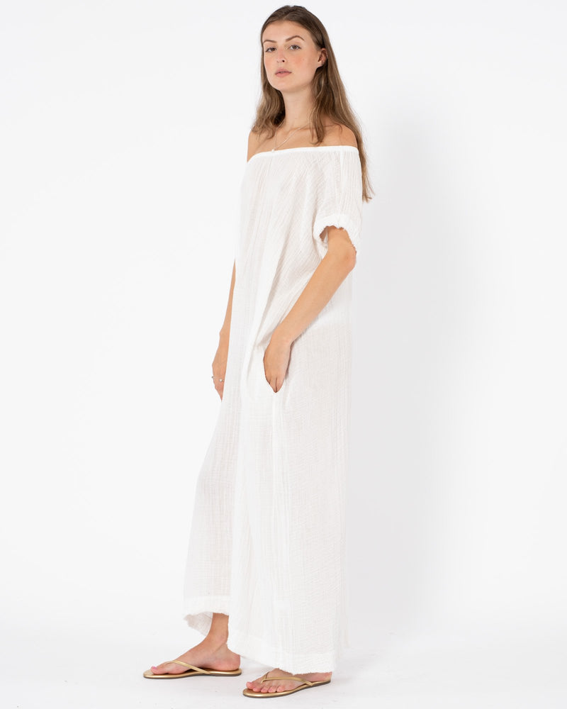 9 SEED - Off Shoulder Caftan | Luxury Designer Fashion | tntfashion.ca