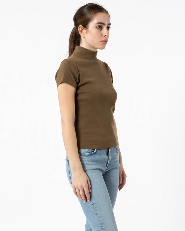 AGOLDE Mock-Neck T-Shirt | newtntfashion.