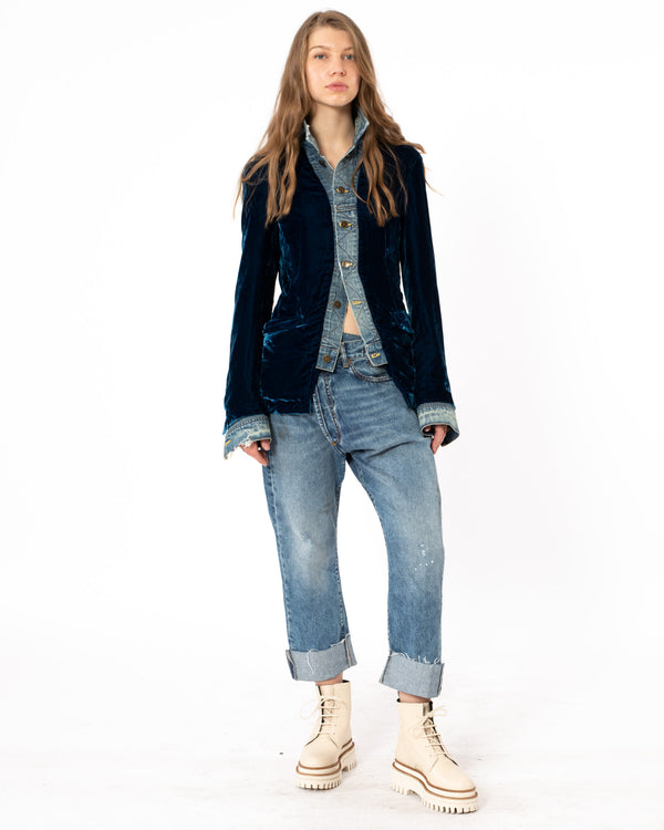 GREG LAUREN - Velvet Trucker Front | Luxury Designer Fashion | tntfashion.ca