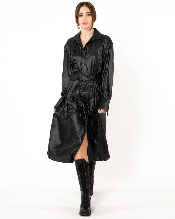 ELEVENTY Long Sleeve Pleated Dress | newtntfashion.