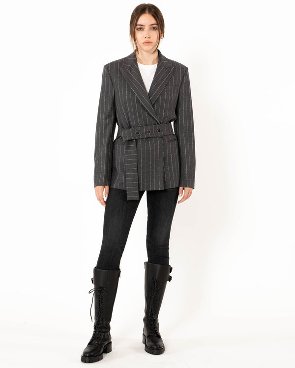 ELEVENTY Single Breasted Coat with Belt | newtntfashion.