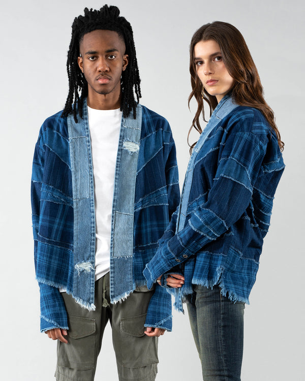 GREG LAUREN - Mix Kimono | Luxury Designer Fashion | tntfashion.ca