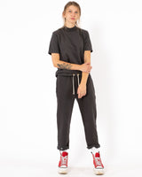 LES TIEN Snap Front Sweatpants | newtntfashion.