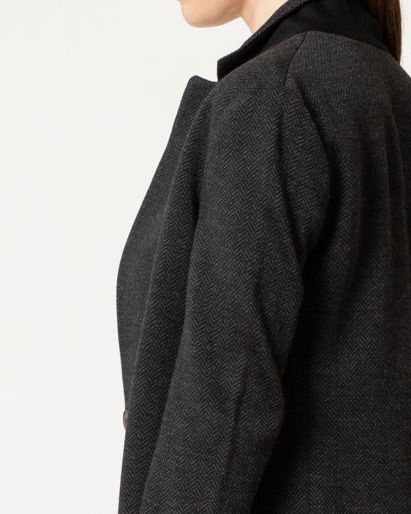 Herringbone Long Knit Coat