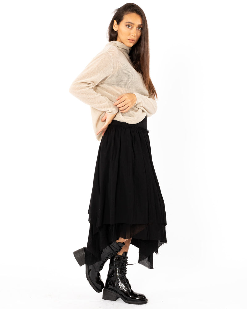 FORME D'EXPRESSION - Gathered Asymmetrical Skirt | Luxury Designer Fashion | tntfashion.ca