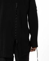 YOHJI YAMAMOTO Leather Cord Sweater | newtntfashion.