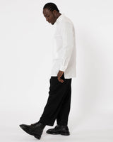 YOHJI YAMAMOTO - Gabardine Tab Pants | Luxury Designer Fashion | tntfashion.ca