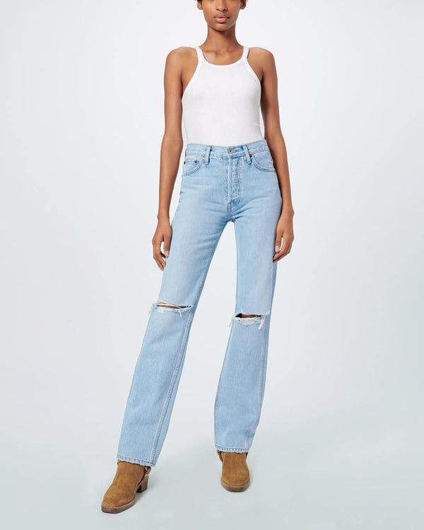 RE/DONE - 90S High Rise Loose Jeans | Luxury Designer Fashion | tntfashion.ca
