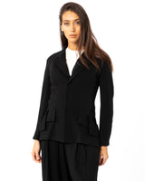 YOHJI YAMAMOTO - Button Flap Snap Open Jacket | Luxury Designer Fashion | tntfashion.ca