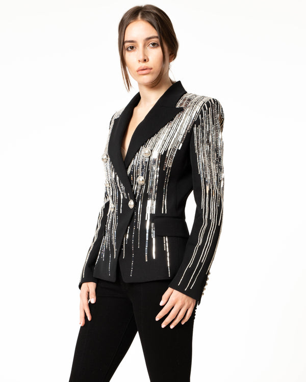 BALMAIN Six Button Embroidered Jacket | newtntfashion.